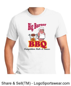 Big Burner BBQ T-Shirt Design Zoom