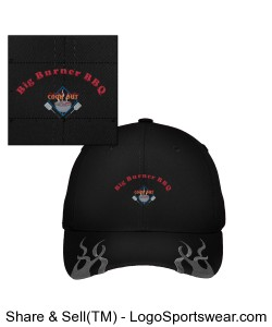 Big Burner BBQ Racing Cap with Flames Design Zoom