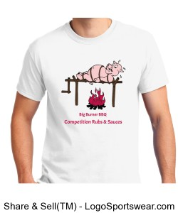 "Big Burner BBQ ""Pig Roast"" T-Shirt Design Zoom"