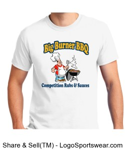 "Big Burner BBQ ""Chef"" T-Shirt Design Zoom"