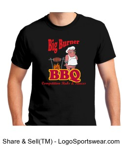 "Big Burner BBQ ""Black"" T-Shirt Design Zoom"