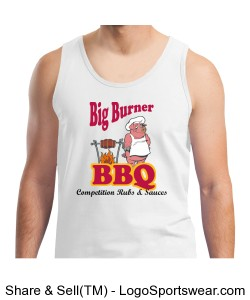 Big Burner BBQ Tank Top Design Zoom